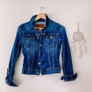 AG Robyn Denim Jacket size Small Dark wash blue